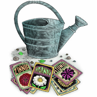Watering Can and Seed Packets Design Photo Cutouts
