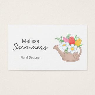 Watering Can Floral Arangement Designer Business Card