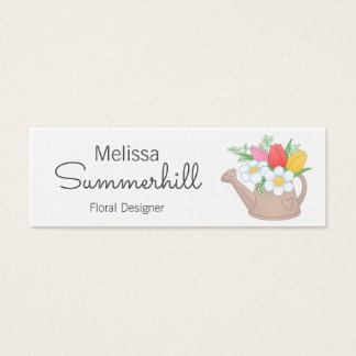 Watering Can Floral Arangement Designer Mini Business Card