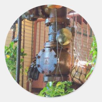 Watering hole round sticker