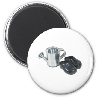 WateringCanGardeningShoes090312.png 6 Cm Round Magnet