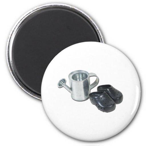 WateringCanGardeningShoes090312.png Fridge Magnets