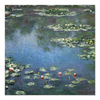 Waterlilies by Claude Monet, Vintage Flowers Card