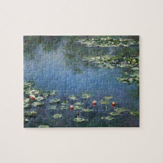 Waterlilies by Claude Monet, Vintage Flowers Jigsaw Puzzle