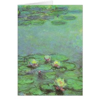 Waterlilies by Claude Monet, Vintage Impressionism Card