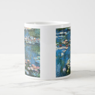 Waterlilies by Claude Monet, Vintage Impressionism Large Coffee Mug