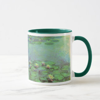 Waterlilies by Claude Monet, Vintage Impressionism Mug