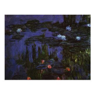 Waterlilies by Claude Monet, Vintage Impressionism Postcard