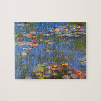 Waterlilies by Claude Monet, Vintage Nature Art Jigsaw Puzzle