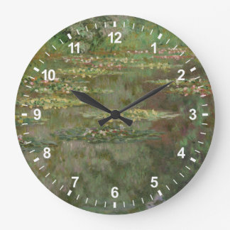 Waterlilies or The Water Lily Pond Nympheas Large Clock