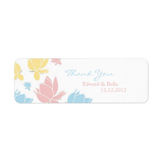 Waterlilly Wedding Thank You Gift Tag Label