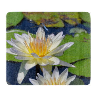 Waterlily and Dragonfly Cutting Board