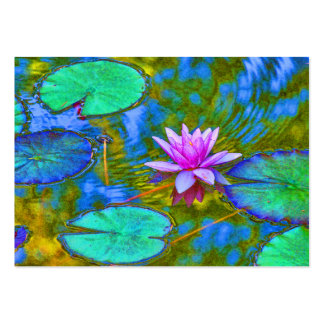 Waterlily Lotus for Yoga Studio, Spa, Beauty Salon Business Cards