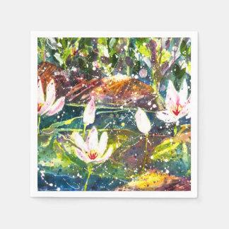 Waterlily pond party napkins disposable napkin
