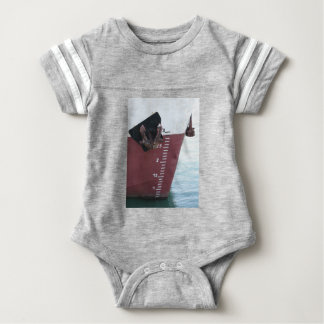 Waterline marked on the ship with scale numbering baby bodysuit