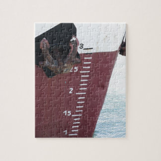 Waterline marked on the ship with scale numbering jigsaw puzzle