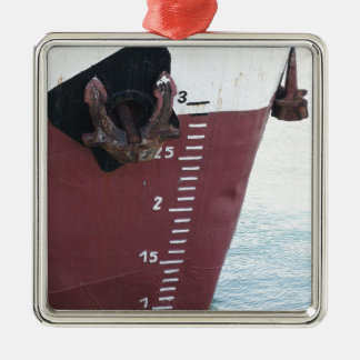 Waterline marked on the ship with scale numbering metal ornament