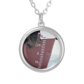 Waterline marked on the ship with scale numbering silver plated necklace