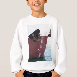 Waterline marked on the ship with scale numbering sweatshirt