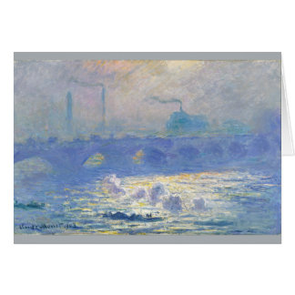 Waterloo Bridge by Claude Monet Card