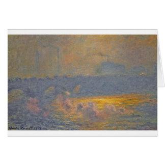 Waterloo Bridge by Claude Monet Greeting Card
