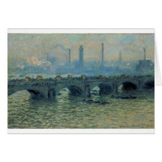 Waterloo Bridge, Grey Weather by Claude Monet Card