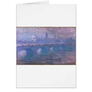 Waterloo Bridge, Misty Morning by Claude Monet Card
