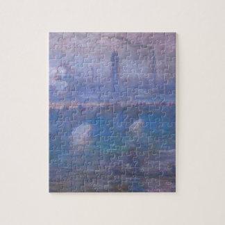 Waterloo Bridge, Misty Morning by Claude Monet Jigsaw Puzzle