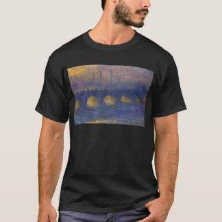 Waterloo Bridge, Overcast Weather by Claude Monet T-Shirt