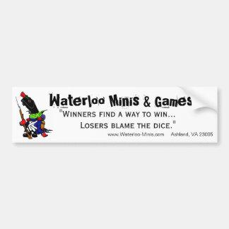 Waterloo Minis Game Shop Bumper Sticker. Car Bumper Sticker