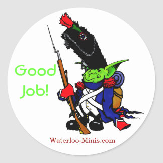 Waterloo-Minis GOOD JOB STICKER! Round Sticker