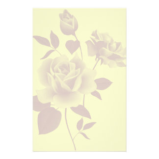 Watermark Roses Paper Stationery