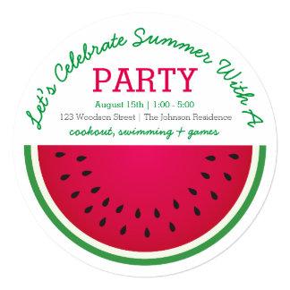 Watermelon 13 Cm X 13 Cm Square Invitation Card