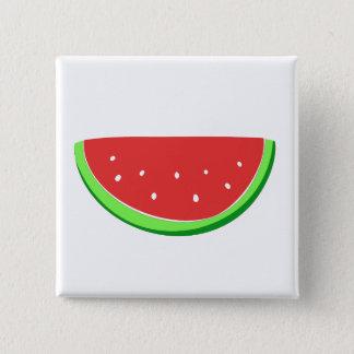 Watermelon 15 Cm Square Badge