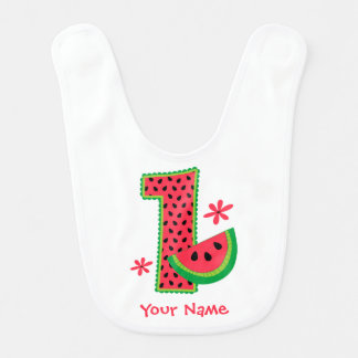 Watermelon 1st Birthday Baby Bibs
