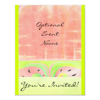 Watermelon Abstract Cool Invitation