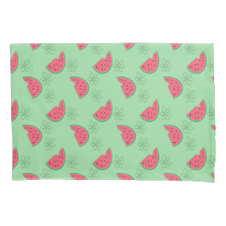Watermelon and Flowers Pillowcase