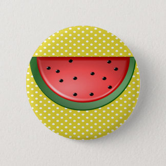 Watermelon and Polks Dots 6 Cm Round Badge