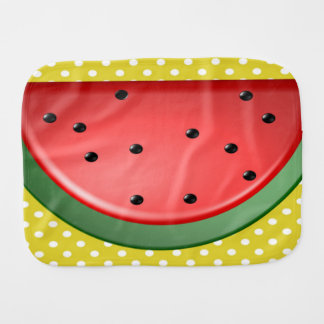 Watermelon and Polks Dots Burp Cloth