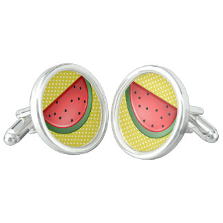 Watermelon and Polks Dots Cufflinks