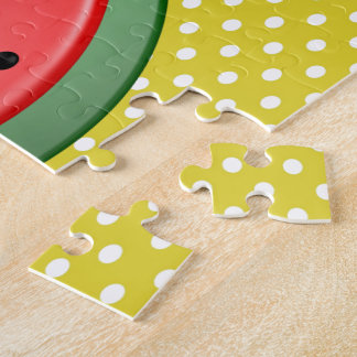 Watermelon and Polks Dots Jigsaw Puzzle