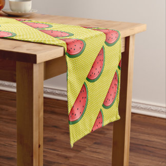 Watermelon and Polks Dots Short Table Runner