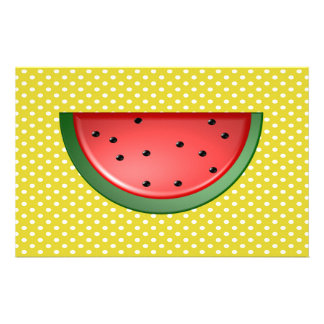 Watermelon and Polks Dots Stationery