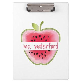 Watermelon Apple Personalised Teacher Clipboard
