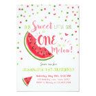 Watermelon Birthday Invitation Melon Summer Party