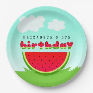 Watermelon Birthday Picnic Party Paper Plate