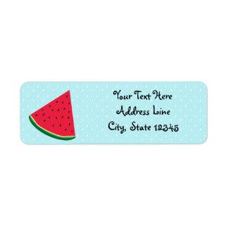 Watermelon Blue Fun Summertime Birthday Party Return Address Label