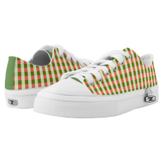Watermelon Check Classic low top shoes green