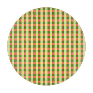 Watermelon Check cutting board round