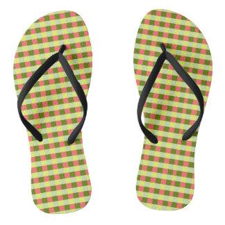 Watermelon Check flip flops